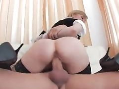 Bedroom, Blonde, Blowjob, Boss, Bra, Couple, Cowgirl, Dick, Doggystyle, Fat,