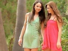 Babe, Beauty, Bold, Brunette, Cute, Dress, Gorgeous, Legs, Lesbian, Licking,