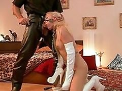 Abuse, Blonde, Blowjob, Boobless, Boots, Close Up, Cum, Cum Swallowing, Cumshot, Domination,