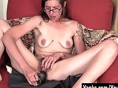 Amateur, Big Nipples, Cum, Dildo, Dirty Talk, Glasses, Hairy, HD, Masturbation, Moaning,