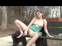 Amateur, Big Tits, Fucking, Ginger, Jerking, Masturbation, Model, Outdoor, Park, Public,