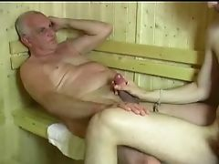 Amateur, Big Cock, Blowjob, Old And Young, Sauna,