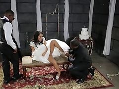 Amazing, Ass, Black, Bride, Clothed Sex, Hardcore, High Heels, Interracial, Long Hair, Mmf,