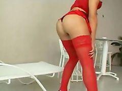Ass, Cute, Huge Dildo, Lingerie, Shemale,