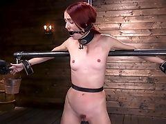Abuse, BDSM, Bondage, Boobless, Fetish, Hardcore, Redhead, Submissive, Teen,