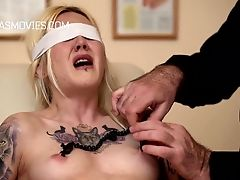 BDSM, Blonde, Boobless, Clamp, HD, Maid, Small Tits, Teen,