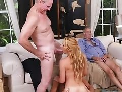 Blonde, Blowjob, Facial, Grandpa, Handjob, Mature, Old, Raylin, Teen, Young,