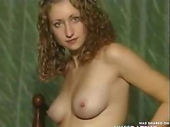 Babe, Blonde, Bra, Cute, Hairy, Horny, Masturbation, Model, Natural Tits, Nylon,