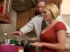 Babe, Blonde, Blowjob, Clothed Sex, Dress, Forest, From Behind, Hardcore, Kitchen, Krissy Lynn,