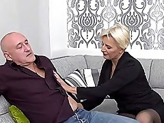 Big Tits, Blonde, Blowjob, Bodystocking, Couch, Deepthroat, Exhibitionist, From Behind, Fucking, HD,