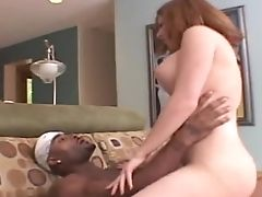 Big Cock, Blowjob, Couple, Cowgirl, Doggystyle, Ginger, Hardcore, High Heels, Interracial, Miniskirt,