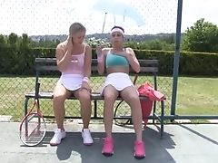 Insertion, Jerking, Lesbian, Long Hair, Outdoor, Sport, Teen, Tennis,