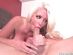 Big Tits, Blonde, Couple, Cowgirl, Doggystyle, Fake Tits, Fat, Hardcore, High Heels, Lingerie,