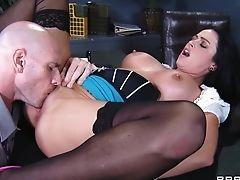 Aryana Augustine, Big Cock, Big Tits, Blowjob, Cumshot, Desk, Doggystyle, Facial, Fucking, Hardcore,