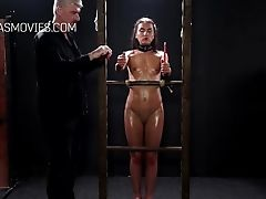 BDSM, Blowjob, Boobless, HD, Nataly Gold, Submissive,