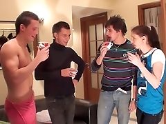 Anal Sex, Blowjob, Brunette, Double Penetration, Facial, Group Sex, HD, Russian, Slut, Whore,