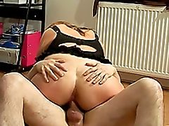 Amateur, Big Ass, Big Natural Tits, Bold, Chubby, Close Up, Couch, Couple, Cowgirl, Fucking,