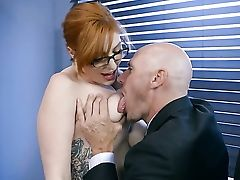 Big Natural Tits, Big Nipples, Big Tits, Blowjob, Condom, HD, POV, Redhead, Rough, Secretary,
