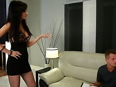 Big Tits, Blowjob, Bobcat, Brunette, Couch, Cougar, Diana Prince, Hardcore, Licking, Lingerie,
