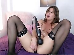 Amateur, Babe, Jerking, Masturbation, Sex Toys, Stockings, Vibrator, Webcam,
