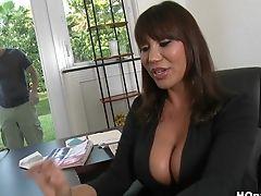 Ava Devine, Big Ass, Big Tits, Black, Blowjob, Bold, Brunette, Creampie, Hardcore, MILF,