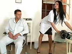 Aletta Ocean, Babe, Beauty, Blowjob, Brunette, Clinic, Clothed Sex, Cute, Doctor, European,