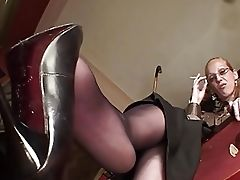 Foot Fetish, HD, Lingerie, Nylon, POV, Shoe, Whore,