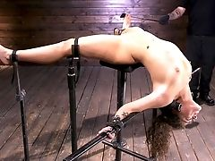 BDSM, Bondage, Clamp, Curly, Fetish, Pussy, Slut, Submissive, Teen, Torture,