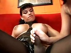 BDSM, Bold, Brunette, Handjob, Mistress, Shemale, Slut, Spanking, Stockings, Wild,