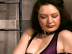BDSM, Big Tits, Blonde, High Heels, Rubber, Submissive, Threesome,