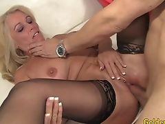 Big Tits, Blonde, Crying, GILF, Mature,