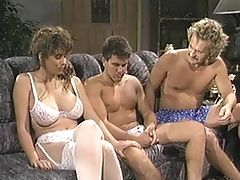 Amazing, Christy Canyon, Lingerie, Mmf, Retro, Threesome,