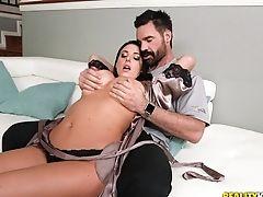 Angela White, Big Tits, Blowjob, Cowgirl, Dirty, Handjob, Hardcore, MILF, Missionary, Natural Tits,