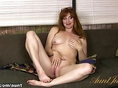 Amber Dawn, Audition, Boobless, Casting, Ginger, MILF, Solo,