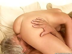 Blonde, Blowjob, Grandpa, Horny, Old And Young, Teen,