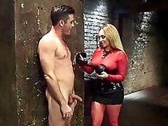 BDSM, Big Tits, Blonde, Close Up, Corset, Domination, Femdom, Fetish, Handjob, HD,
