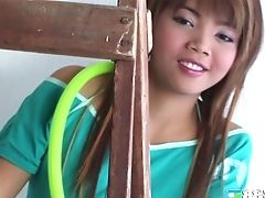 Backstage, Clamp, Ethnic, Long Hair, Model, Natural Tits, Pussy, Shaved Pussy, Solo, Thai,