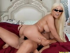 Big Tits, Blonde, Blowjob, Couple, Cowgirl, Dick, Doggystyle, Fake Tits, Fat, Handjob,