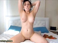 Bedroom, Big Tits, Brunette, Horny, Masturbation, Moaning, Model, Natural Tits, Solo, Webcam,