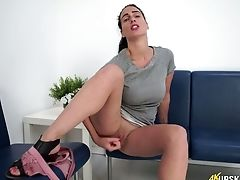 Ass, Babe, Brunette, Curvy, Flashing, Gaping Hole, HD, Legs, Panties, Pussy,