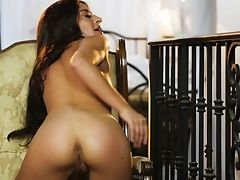 Ass, Boobless, Caning, Clamp, Cute, Fingering, Gaping Hole, Long Hair, Masturbation, Moaning,