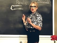 Big Tits, Blonde, Exhibitionist, Glasses, Kelly Madison, Masturbation, MILF, Miniskirt, Model, Natural Tits,