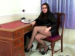 British, Mature, MILF, Nylon,