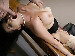 Big Natural Tits, Big Nipples, Big Tits, Blowjob, Boss, Brunette, Business Woman, HD, POV, Worship,