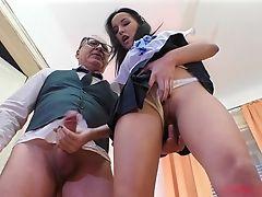 Couple, Dick, Fingering, Hardcore, Miniskirt, Panties, Pornstar, POV, Teen,