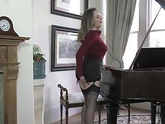 Big Tits, Classic, MILF, Retro, Samantha Bentley, Solo, Stockings, Vintage,
