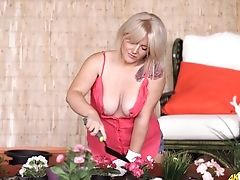 Big Tits, Blonde, Flashing, HD, Housewife, MILF, Softcore, Solo, Tattoo,