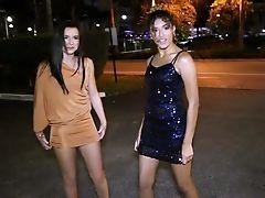 Amateur, Babe, Brunette, Car, Dress, Drunk, Flashing, Friend, Lesbian, Limousine,