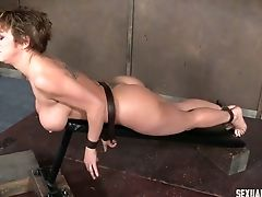 BDSM, Big Tits, Blowjob, Bondage, Brunette, Deepthroat, Dungeon, Face Fucking, Hardcore, Master,