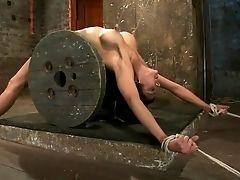 BDSM, Bondage, Brunette, Brutal, Cameltoe, Experienced, Extreme, Nipples, Sexy, Torture,